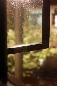 cabin window rain