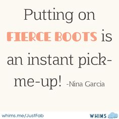 putting on fierce boots